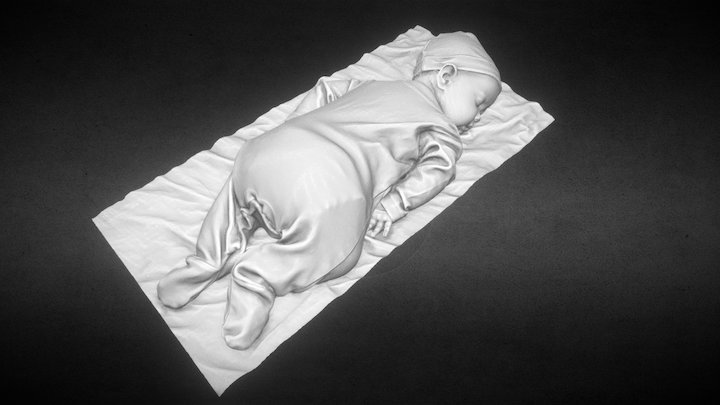 Abigail at 3 months old 3D Model