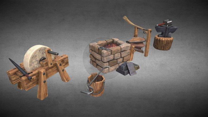 Medieval Forge (part 1) 3D Model
