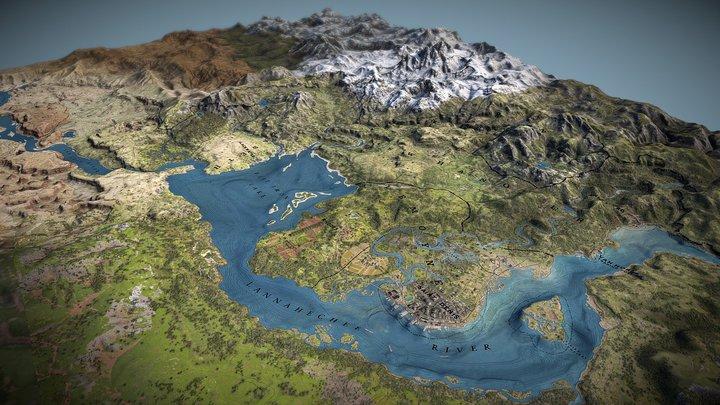 Red Dead Redemption 2 3D Map 3D Model