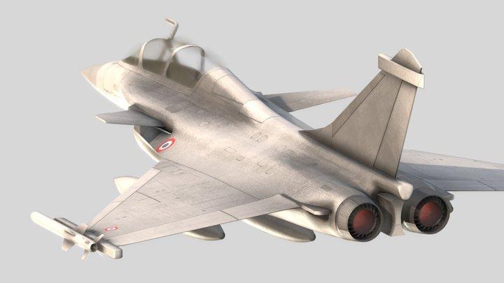 Rafale fighter 3D Model