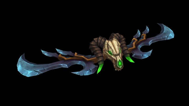 Low Poly Stylized Warglaive 3D Model