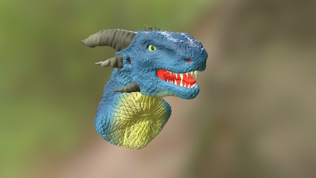Dragon Head High-Poly Model 3D Model