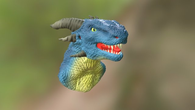 Dragon Head High-Poly Model 3D Model