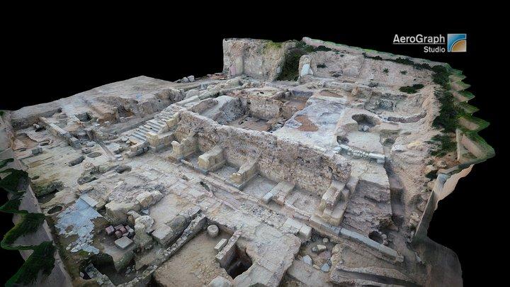 Excavations in Roman Forum of Cartagena, Spain 3D Model