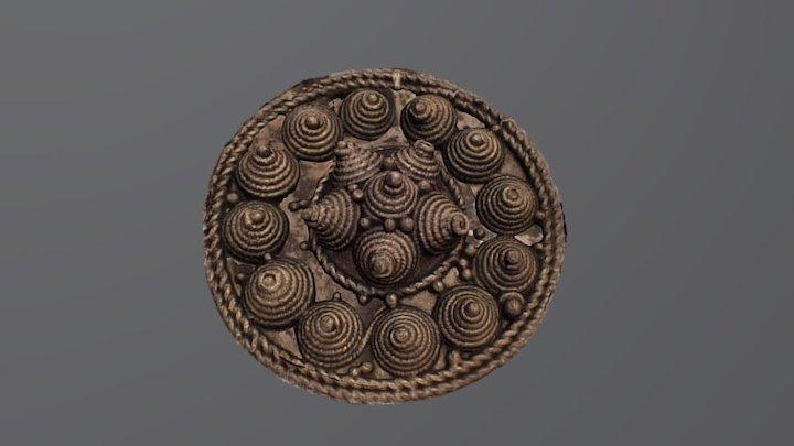Round brooch, Bj 642 Birka 3D Model