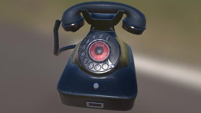 德國老式電話 Vincy's Phone-Low res 3D Model