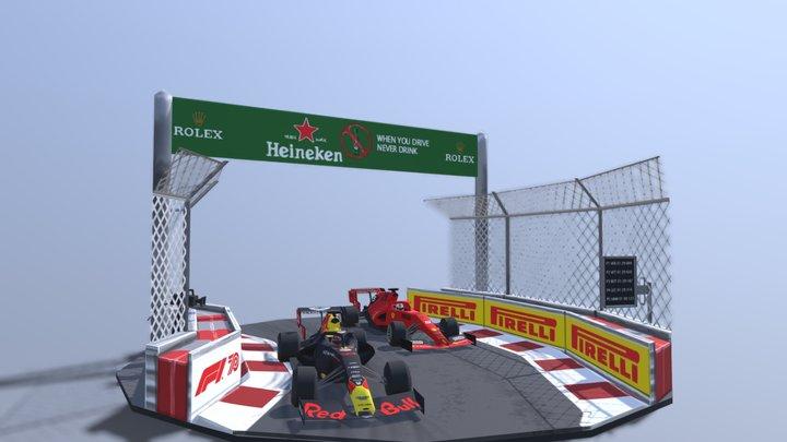 F1 Diorama 3D Model