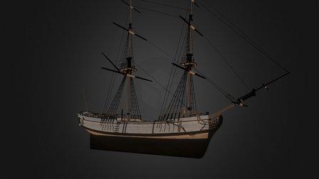 Merchant Snow - Tides of War: Letters of Marque 3D Model