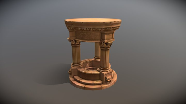 Greek Well 3D Model