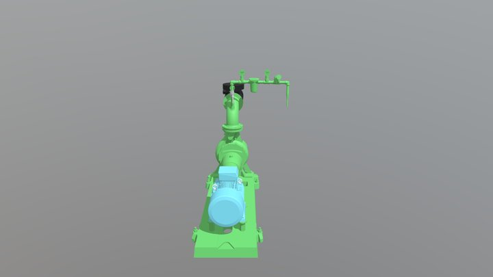 Pompe Industrielle CAO 3D Model