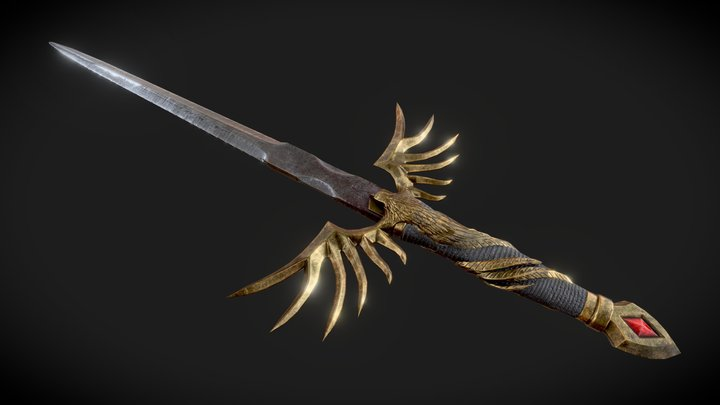 Queen's Ashes - Thrust Dagger 3D Model