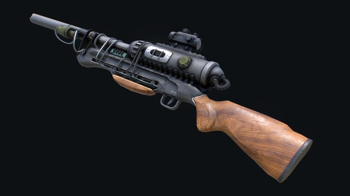 Scavs Rifle 3D Model