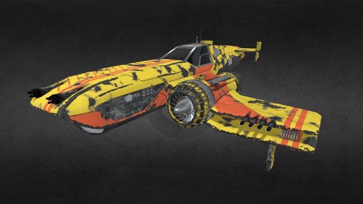 Fighter BiPlane 3D Model