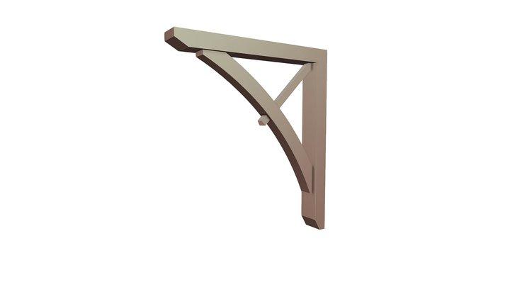 Wood Bracket 13T2 42 x 48 3D Model
