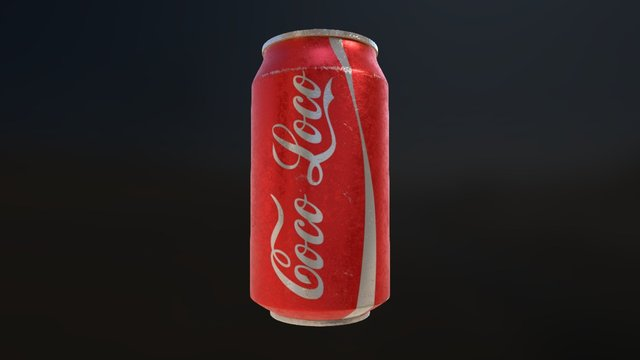 Old and rough Coke Can 3D Model