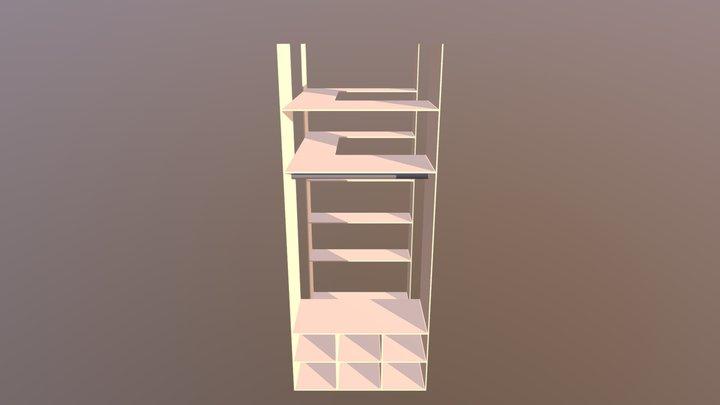 Kleiderschrank 3D Model