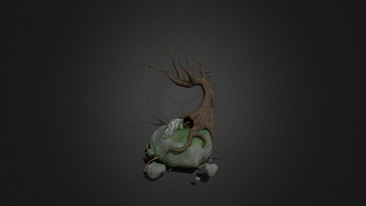 Floating Tree 3D Model