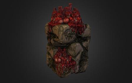 Skull Candle Pedestal  3D Model
