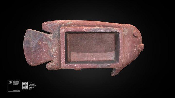 Recipiente de piedra en forma de pez 3D Model