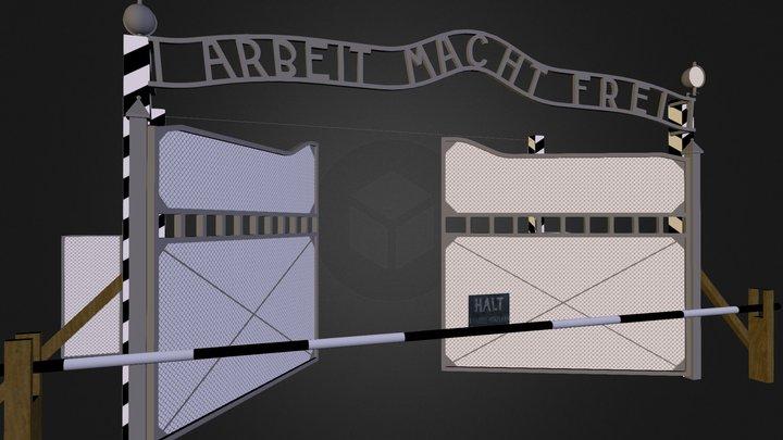 Arbeit Macht Frei Gate 3D Model