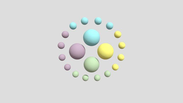 16 spheres 3D Model
