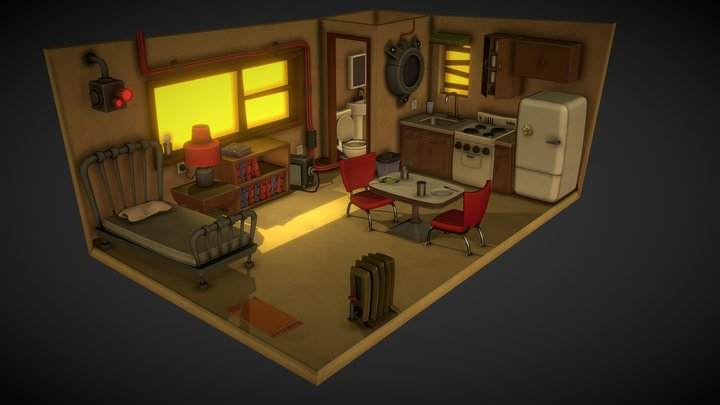 Power Arms Crummy Apartment 3D Model