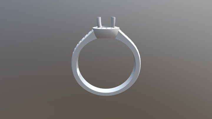 טבעת שמש שתי שורות 3D Model