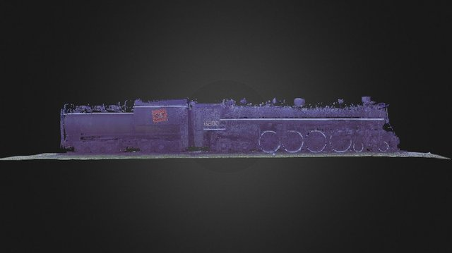 Ottawa Steam Locomotive CN 6200 & Tender; 20mm 3D Model