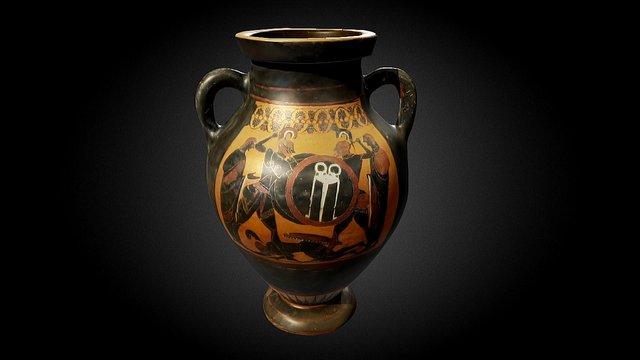 Attic black-figure amphora: The Johnson Vase 3D Model