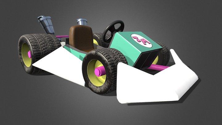 Mario Kart styled Go-Kart 3D Model