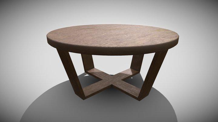 Coffeetable Round 3D Model