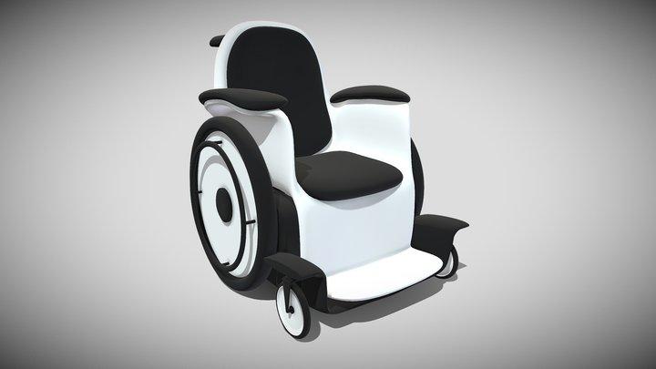 Silla De Ruedas 3D Model