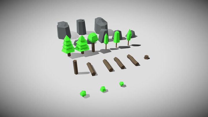 Low Poly Nature 1 3D Model