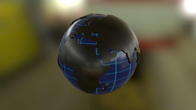 Earth Lowpoly 3D Model