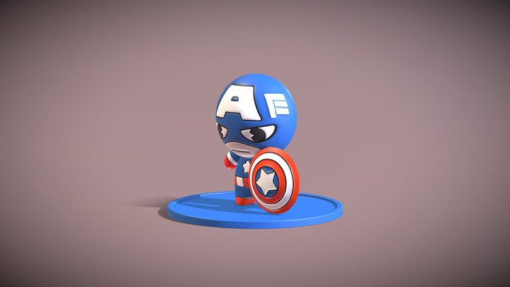 Capitao America Toyart 3D Model
