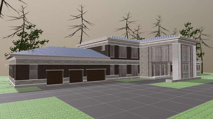 Barviha village 3D Model