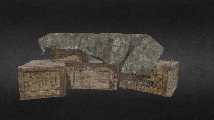 Warehouse Crates 3D Model