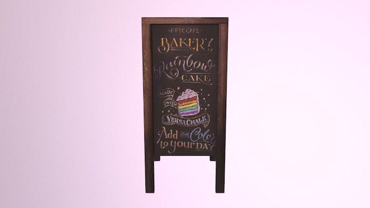 Bakery Chalkboard 3D Model