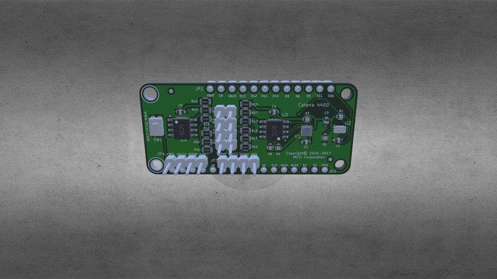 Catena-4450-MCCI-LW- Feather- Sensor- Shield-3D 3D Model