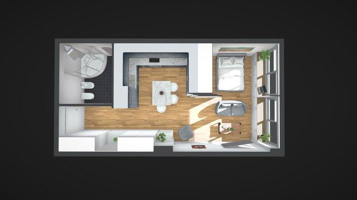 Goldstar - Appartement meublé 3D Model