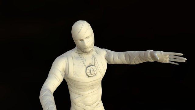 Low Poly Mummy 3D Model