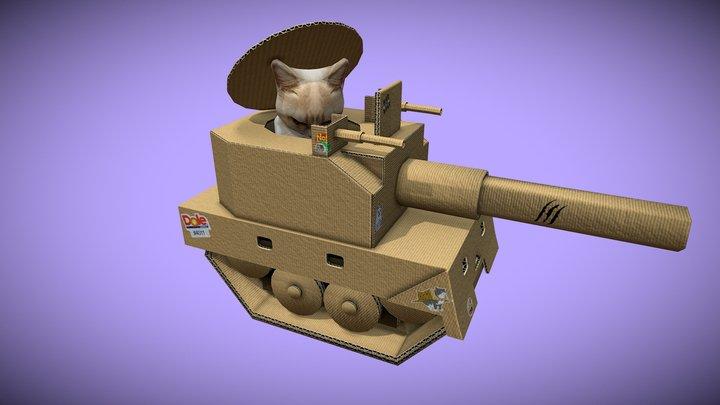 Tank Cat 3D Model