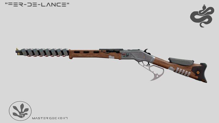 """Fer-de-Lance"" Sci-Fi Winchester Concept 3D Model"