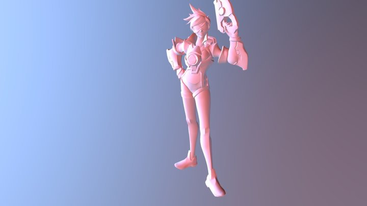 Overwatch : Tracer 3D Model
