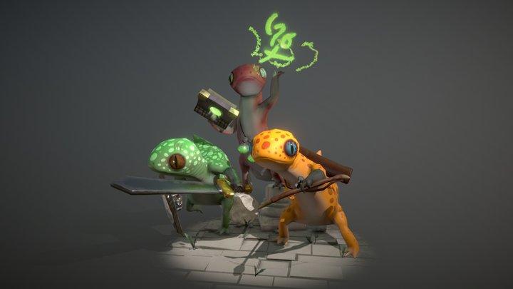 Raid Party 3D Model