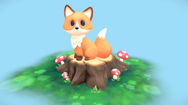 Fox In The Woods 3D Model