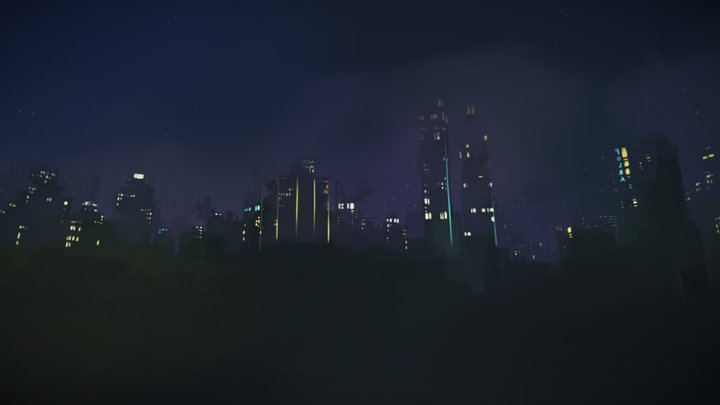 Skybox - A Town In Mist 3D Model