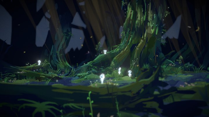 Princess Mononoke - Kodama spirit forest (VR) 3D Model