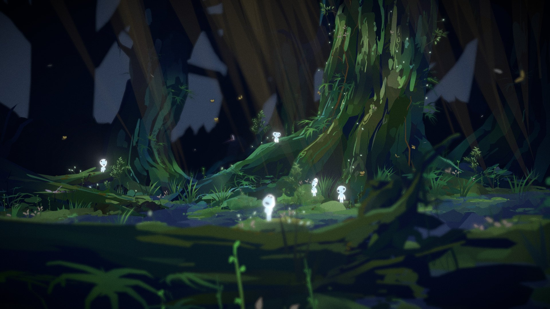 Princess Mononoke Kodama Spirit Forest Vr 3d Model By