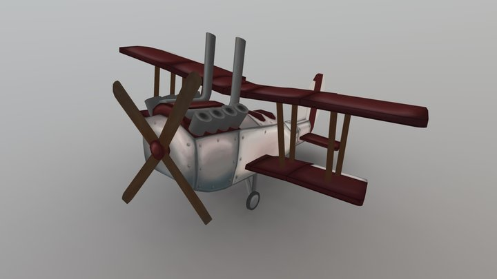 RAF BE2 - Stylized Plane 3D Model